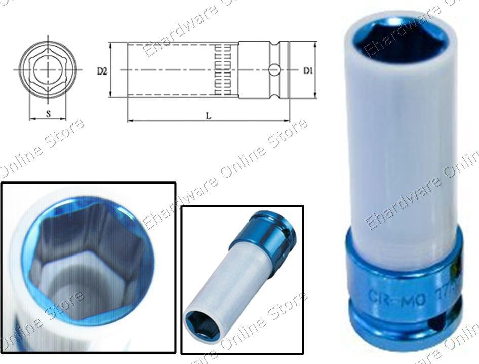 Thin Wall Wheel Nut Protector Deep Socket 17MM (330417)