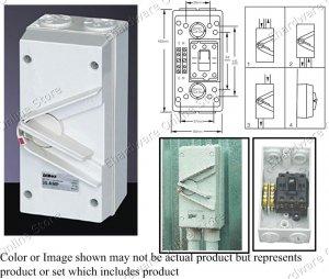 Weatherproof Isolators Switch 3Pole+E+N 35A 440V (RWHT35)