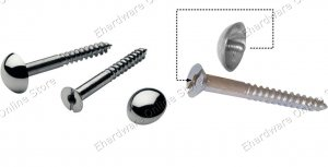decorative fixing dometop mirror screws 6 x 2 1082a2 - Decorative Screws