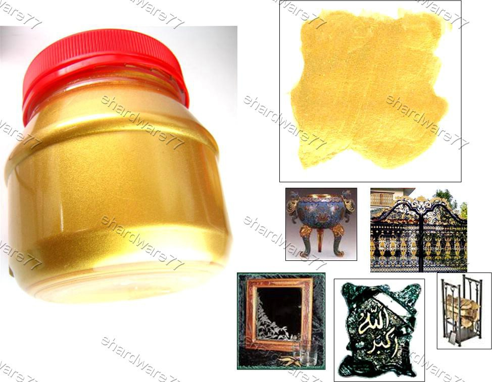 Sparkling Gold Water Soluble Varnish Paint 250gram (PA250)