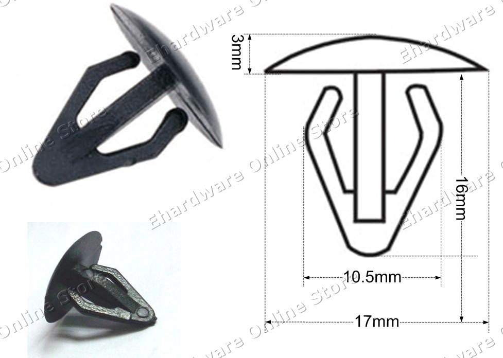 Auto Upholstery Plastic Clips 200pcs/Pack (RD13)