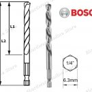 "Bosch HSS-G 1/4"" Hex Shank Metal Drill Bit 3mm (2608595512)"