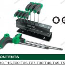 TOPTUL 9PCS T-TYPE 2WAY TORX KEY WRENCH SET (GAAX0901)