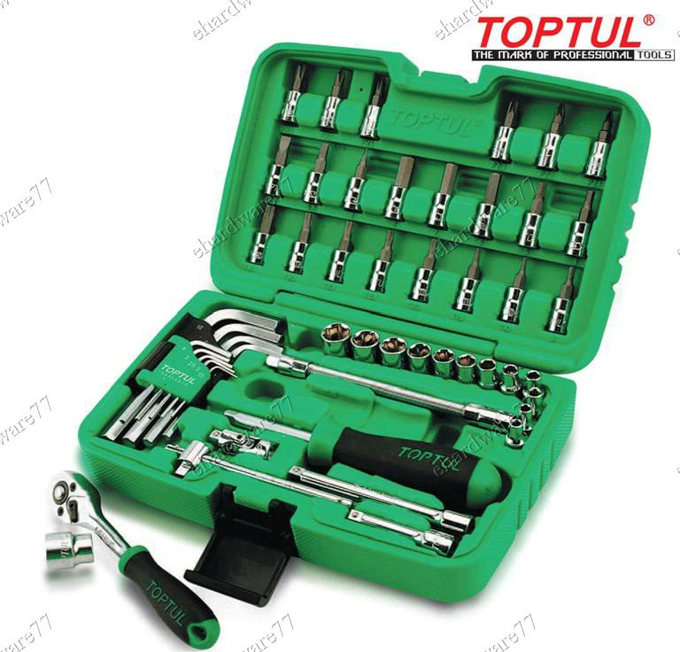 "TOPTUL 51PCS 1/4""DR SOCKET WRENCH SET (GCAI5102)"