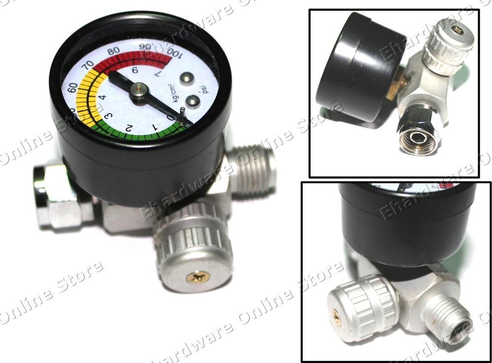Inline Flow Regulator : Inline mini air flow regulator with easy read gauge quot m