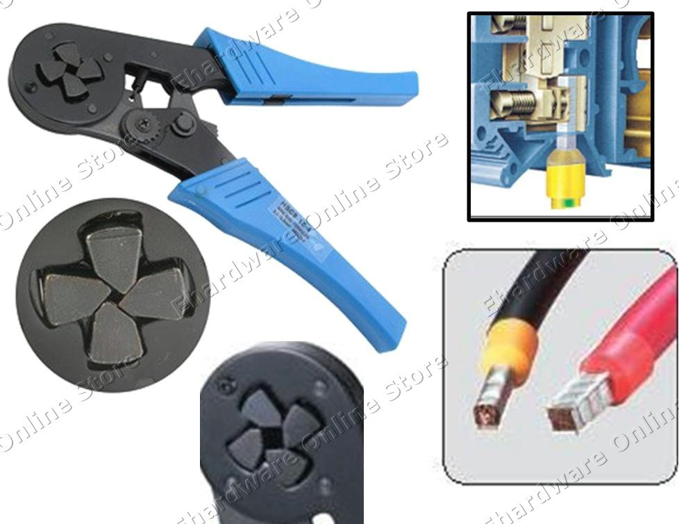 wire ferrule end sleeves ratcheting crimping pliers 6 16mm hsc816 4. Black Bedroom Furniture Sets. Home Design Ideas