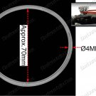 Round Urethane Drive Belt 4x250mm For Mini Bench Drill Press (BG85158DB)