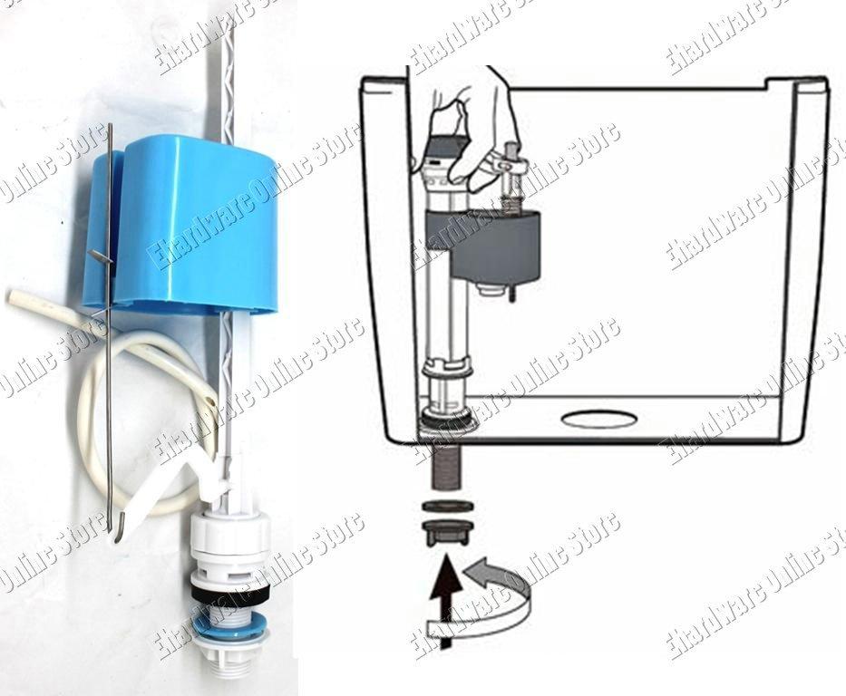Universal Toilet Cistern Adjustable Bottom Entry Fill Valve (PB511)