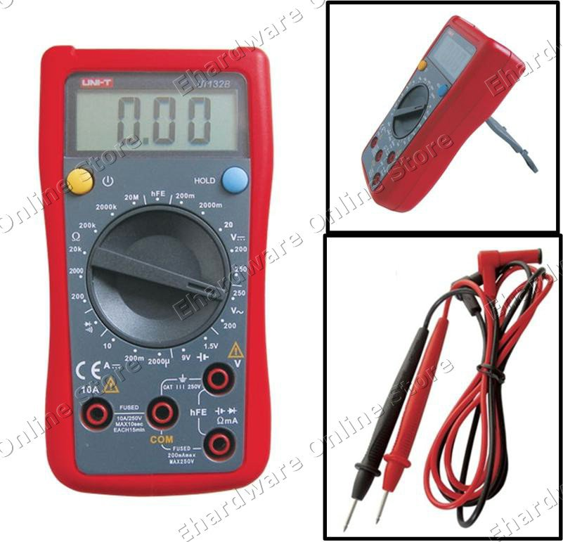 uni t digital multimeter with battery transistor test ut132b. Black Bedroom Furniture Sets. Home Design Ideas