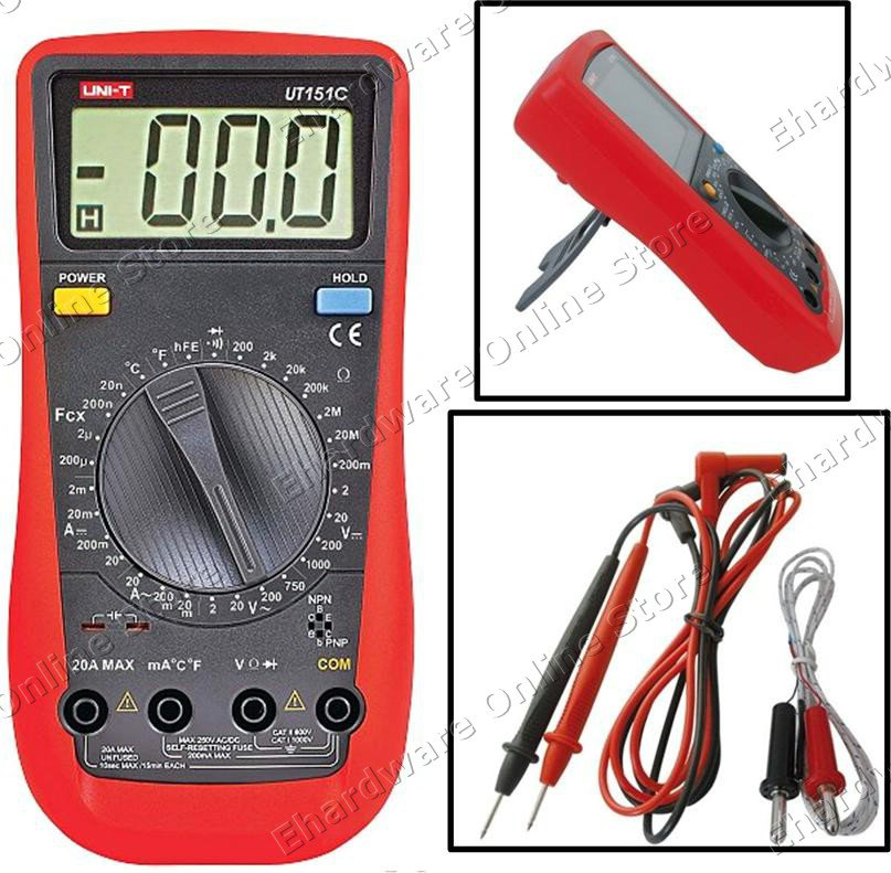 UNI-T DIGITAL MULTIMETER WITH AUTO RESET FUSE (UT151C)