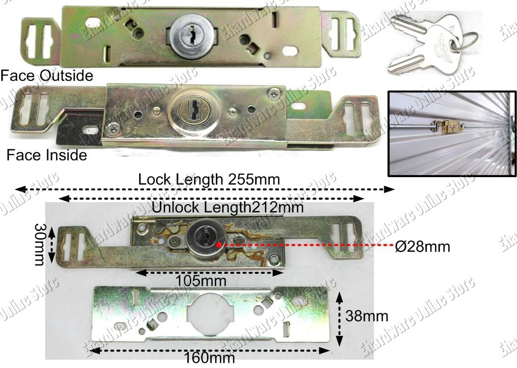 Roller Shutter Center Door Lock (SGH322)
