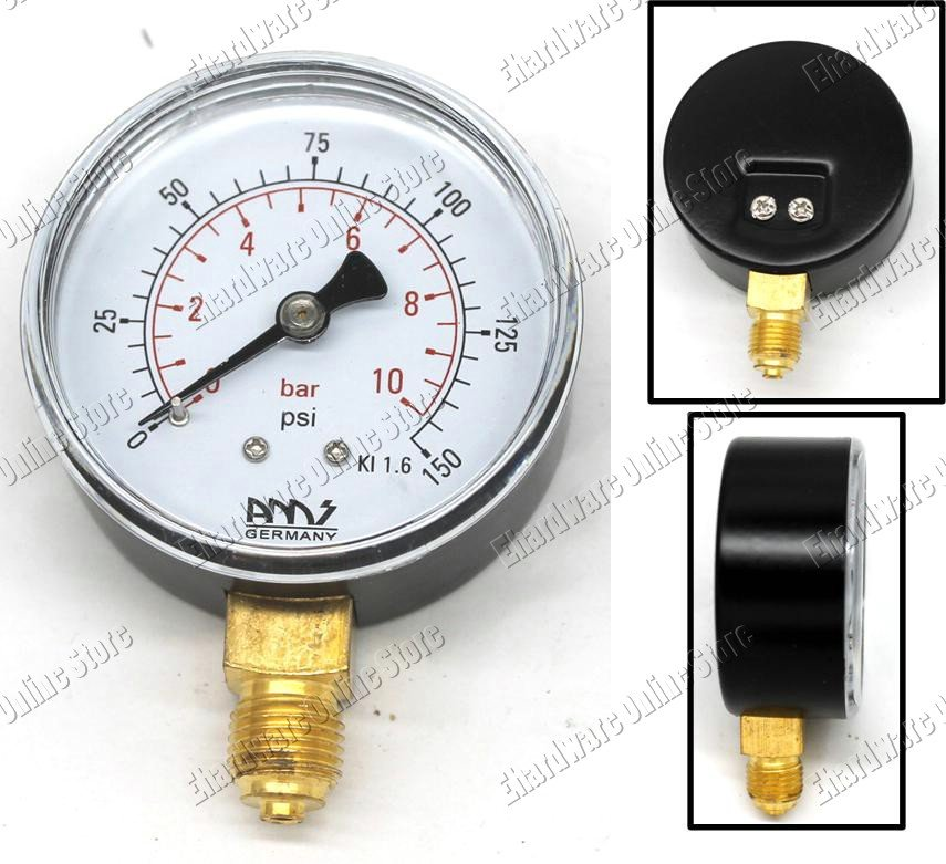 PNEUMATIC PRESSURE GAUGE BASE ENTRY 100MM 0-40BAR (B100-40)