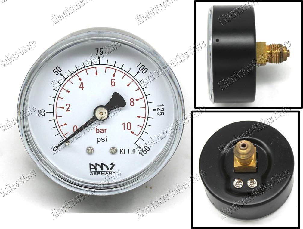 """Pressure Gauge 1/4"""" Back Connection 150Psi (BB63/10)"""