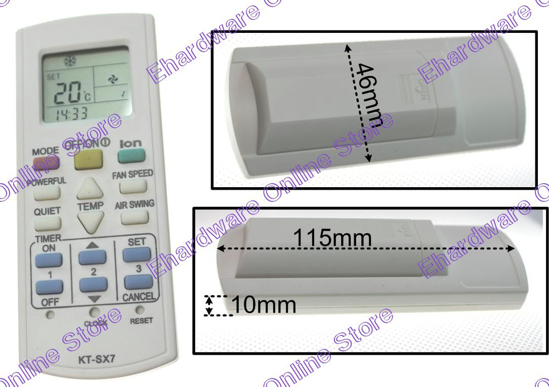 Panasonic Air Conditioner Remote Control Replacement (No Require Setup) (A75C3299)