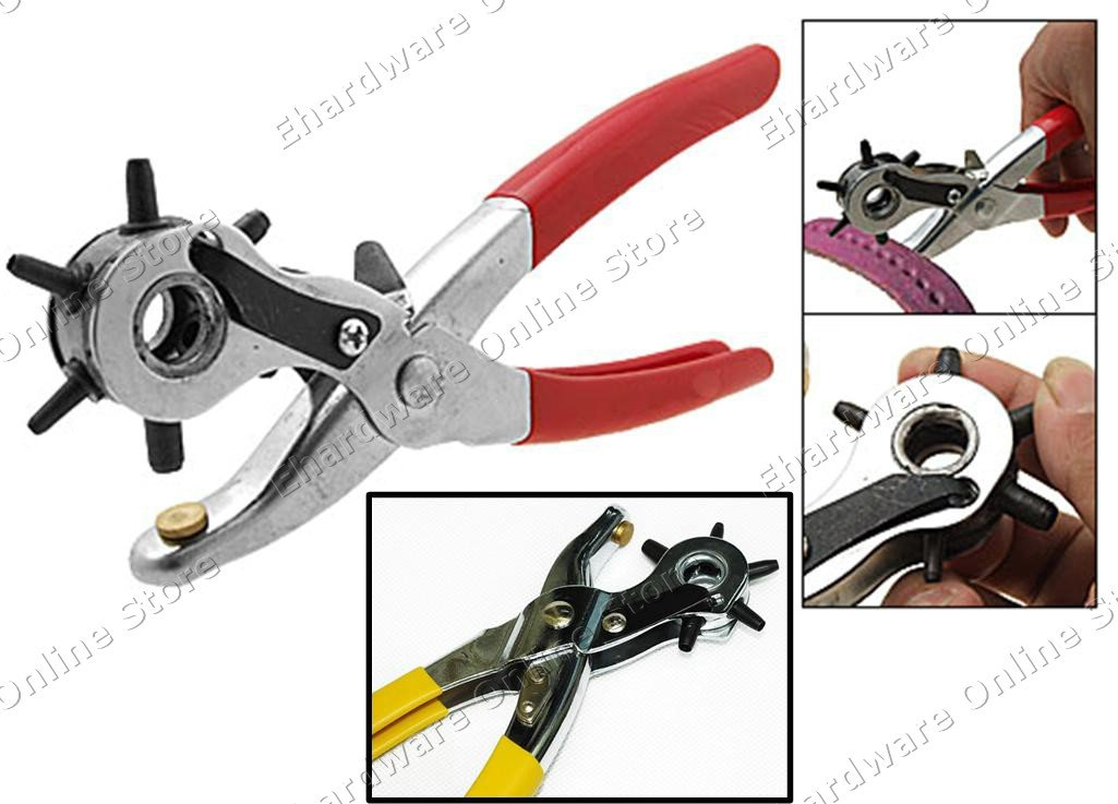 REVOLVING 6-SIZE LEATHER HOLE PUNCH PLIERS (RT-1023)