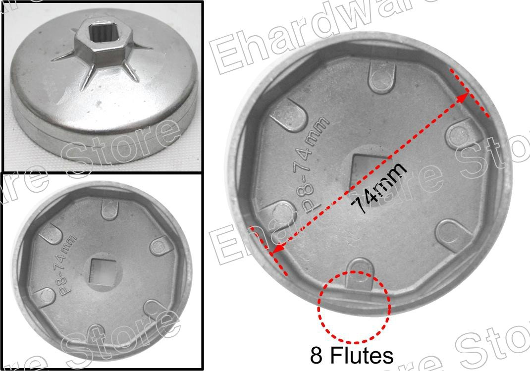 Oil Filter Cap Wrench 74mm P8 For Fiat (WH9032)