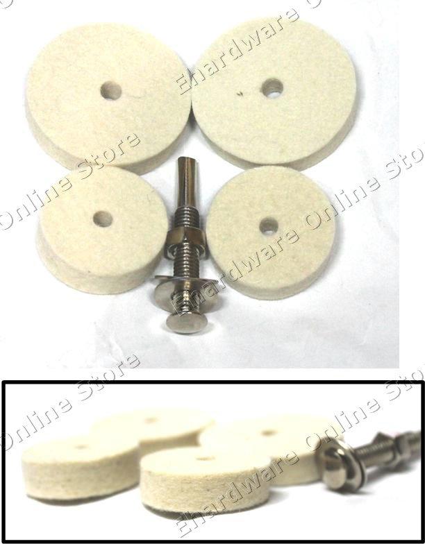 Felt Buffing Polish Wheel & Shank Set (WFPS31)