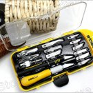 14 Pieces Deluxe Hobby Knife Graver Burin Carving Tool Set (RT-M114)