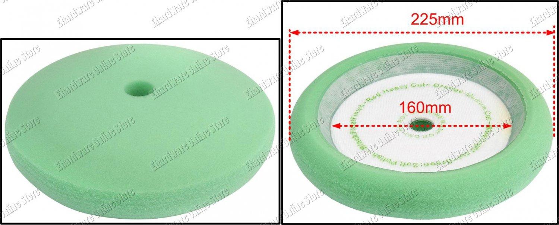 "Premium Grade Soft Green Sponge Polishing Buffing 180mm / 7"" (G03AP)"