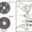 """ANGLE GRINDER 4"""" REPLACEMENT LOCK NUT AND FLANGE SET Makita 9523NB (9523IOF)"""