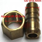 "Brass 60 Degree Cone Swivel Nut BSPP 1/4"" X 3/8"" Hose Connector (C64)"