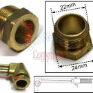 "Cutting Torch Brass Tip Nut 7/8""x20P (CTN)"