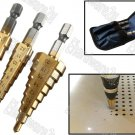 3PCS HEX SHANK HSS TITANIUM COATED STEP DRILL SET 3-20MM (SD3X0420H)