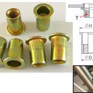 Serrated Body Flange Flat Head Rivet Nuts M3 (BEMM3) 100Pcs