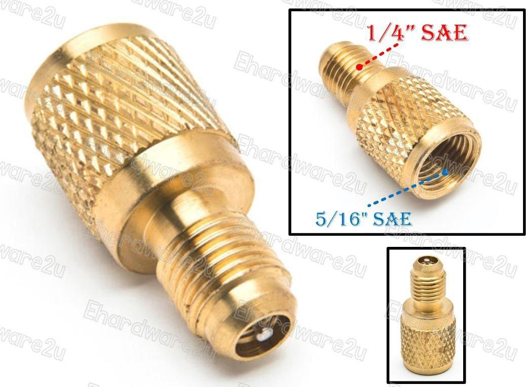 "1/4"" Male SAE x 5/16"" Female SAE R410a To R22 Adapter (CB-04MX05F-V)"