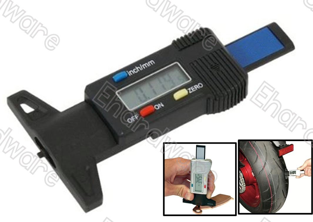DIGITAL TIRE TREAD / BRAKE SHOE DEPTH GAUGE (5328BLK)