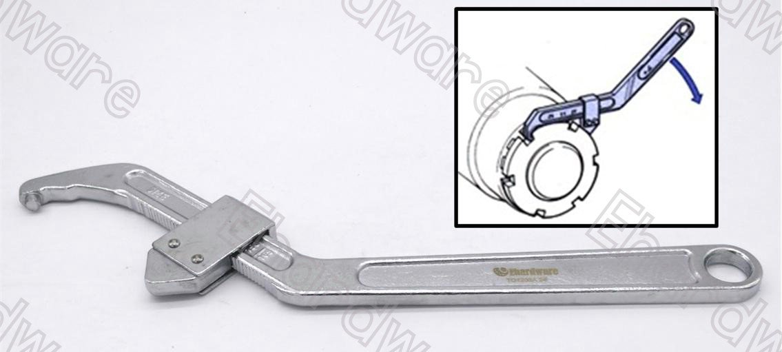 Adjustable Hook Pin Wrench Spanner 95-165mm (TD1208A-2)