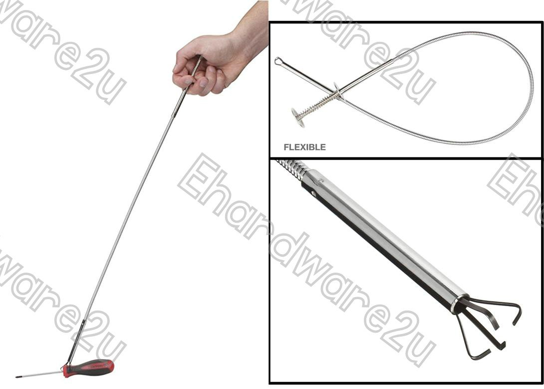 Multi-Purpose Flexible Shank 4-Claw Pick Up Tool Grabber 600mm (3025)