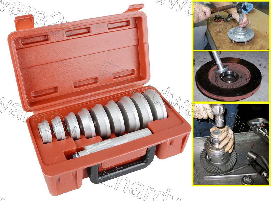 10PCS BEARING RACE & SEAL INSTALLER TOOL SET 40-81MM (1611)
