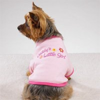 Daddy's Little Girl Tee Dog Clothes Pink (SM)