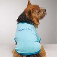 Moma's Boy Tshirt Dog Clothes Blue  (med)