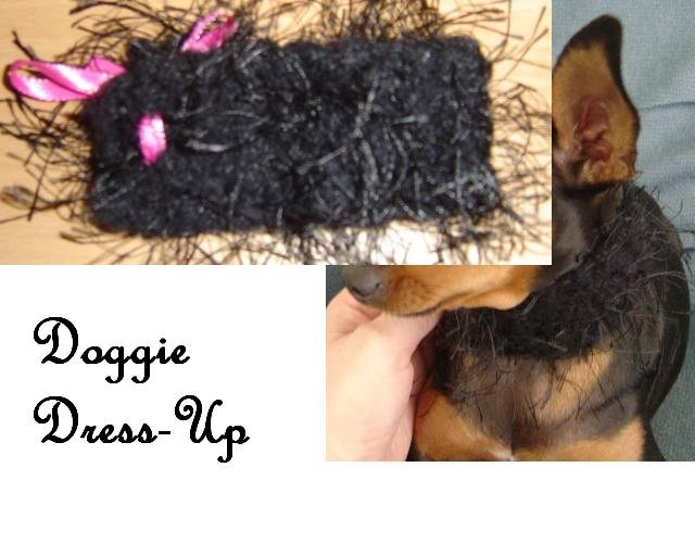 Fuzzy Diva Dog Collar Custom Made (sm)