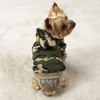 Boy Camo Hoodie Sweatshirt Dog Clothes (SM)