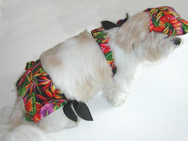 Tropical Dog Bikini XXXsm-Small