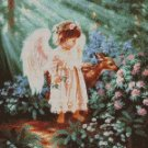 Counted Cross Stitch Kit - ANGEL IN THE GARDEN