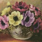 Counted Cross Stitch Kit - FLOWER DESIGN - ANEMONES