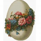 Counted Cross Stitch Kit - EASTER EGG WITH FLOWERS