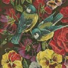 Counted Cross Stitch Kit - FLOWERS AND BIRDS
