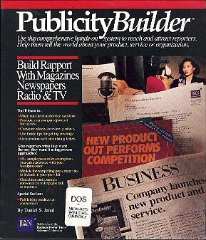 Publicity Builder by Daniel Janal book marketing press releases PR