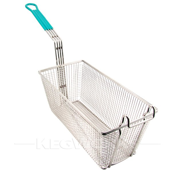 Basket Making Supplies New York : Commercial grade deep fryer basket large green handle