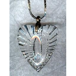 "Big ""Crystal"" Cast GLASS HEART Pendant"
