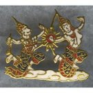 ESTATE SIAM (Thailand) ENAMEL Pin - Colorful GODDESS & MONKEY GOD