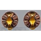 Vintage Signed RENOIR Matisse COPPER Earrings - Translucent ENAMEL