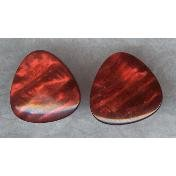 "Vintage Black Cherry Celluloid ""GUITAR PICK"" Earrings"