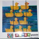 Eric Carle Duck Block Puzzle 10 Little Rubber Ducks