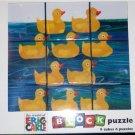 Eric Carle Duck Block Puzzle 10 Little Rubber Ducks
